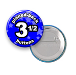 Custom Buttons 3-1/2 inch Round
