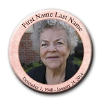 Memorial Buttons 3 inch - Soft Pink
