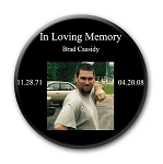 Memorial Buttons 3 inch - Basic Black