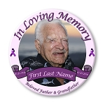 Memorial Buttons 3 inch - Cancer Awareness