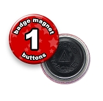 Custom Badge Magnets 1 inch Round