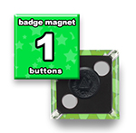 Custom Badge Magnets 1x1 inch Square