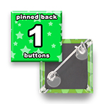 Custom Buttons 1x1 inch Square