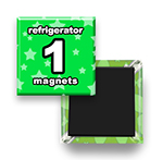Custom Refrigerator Magnets 1x1 inch Square