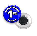 Custom Badge Magnets 1-1/2 inch Round