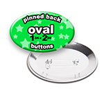 Custom Buttons 1-3/4x2-3/4 inch Oval