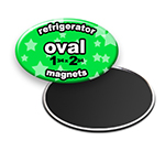 Custom Refrigerator Magnets 1-3/4x2-3/4 inch Oval