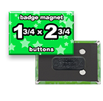 Custom Badge Magnets 1-3/4x2-3/4 inch Rectangle