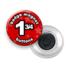 Custom Badge Magnets 1-3/4 inch Round