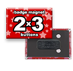Custom Badge Magnets 2x3 inch Rectangle