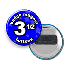 Custom Badge Magnets 3-1/2 inch Round