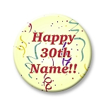 Birthday Button - Yellow