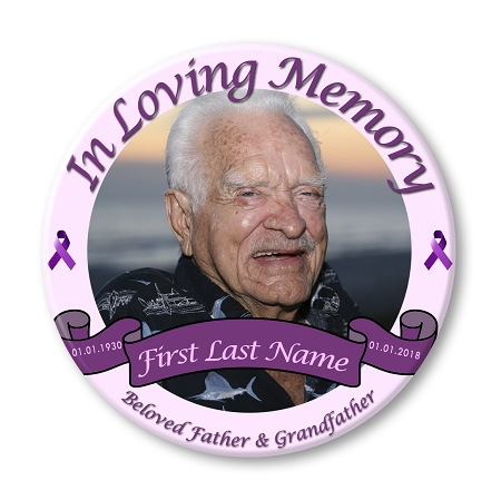 funeral magnets Custom Memorial Button Pins or Memorial Magnets Keepsake : 2.25 or 3 funeral buttons bereavement buttons