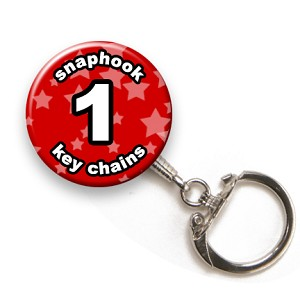 Custom Snaphook Key Chains 1 inch Round
