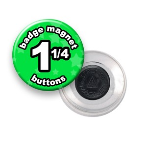 Custom Badge Magnets 1-1/4 inch Round