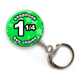 Custom Snaphook Key Chains 1-1/4 inch Round