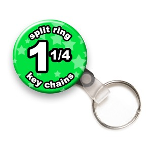 Custom Split Ring Key Chains 1-1/4 inch Round