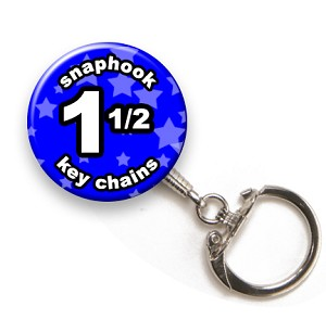 Custom Snaphook Key Chains 1-1/2 inch Round