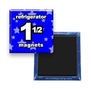 Custom Refrigerator Magnets 1-1/2x1-1/2 inch Square