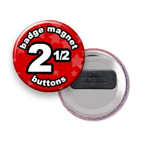 Custom Badge Magnets 2-1/2 inch Round