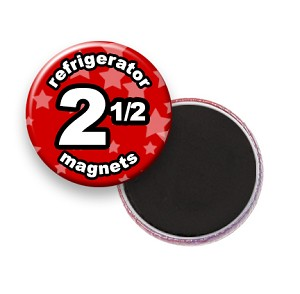 Custom Refrigerator Magnets 2-1/2 inch Round