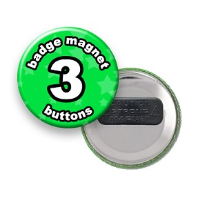 Custom Badge Magnets 3 inch Round