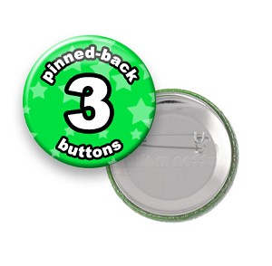 Custom Buttons 3 inch Round