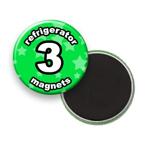 Custom Refrigerator Magnets 3 inch Round