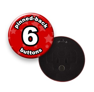 Custom Buttons 6 inch Round