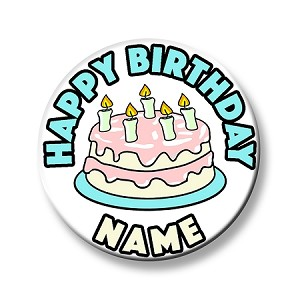 Birthday Button - Cake