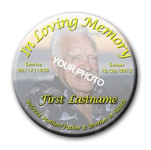 Memorial Buttons 3 inch - In Loving Memory