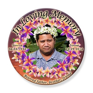 Memorial Buttons 3 inch - Flowers
